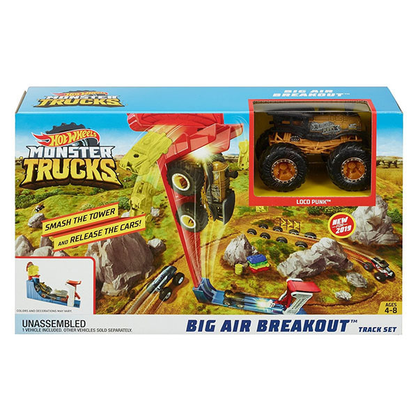 "Hot Wheels Игровой набор ""Monster Trucks: Большой воздушный удар"", Хот Вилс"