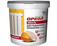 Ореол эмаль для радиаторов, белая, акриловая глянцевая, 2,5 кг
