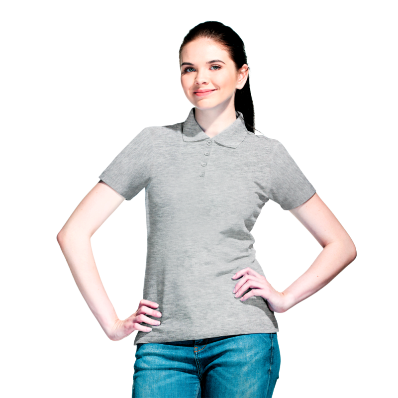 Базовая рубашка поло , StanWomen, 04WL, Серый меланж (50), XL/50
