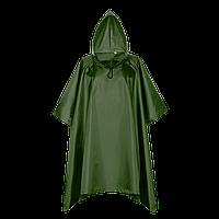 Дождевик-пончо на кнопках, StanSun, пончо, Тёмно-зелёный (130), S/46