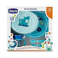 Набор детской посуды Chicco (2тарелки, ложка, вилка, поильник)