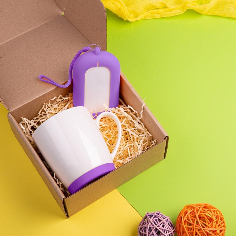 Набор подарочный MATISSE`TEAS: кружка, зарядное устройство, коробка, стружка, фиолетовый, Фиолетовый, -, 35013