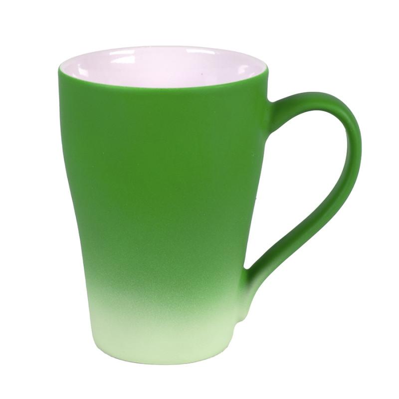 Кружка GRADE с прорезиненным покрытием, Зеленый, -, 23505 15