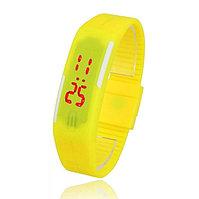 Часы наручные электронные A-WATCH в пластиковой коробке, цвет желтый, Желтый, -, 28517 03