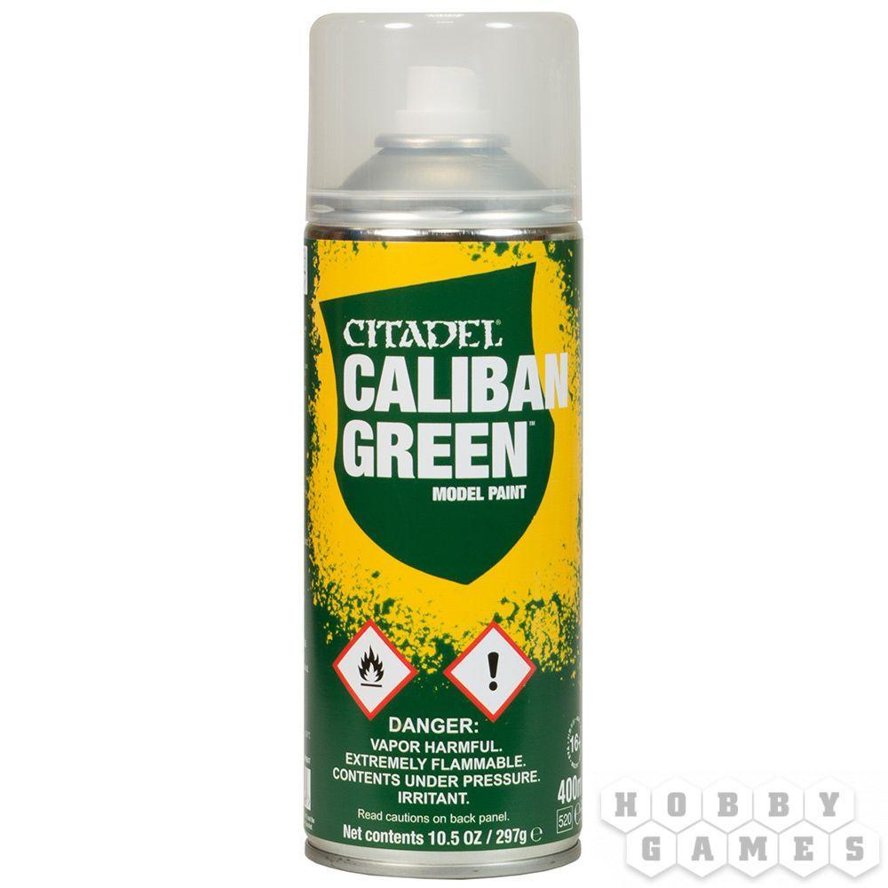 АКСЕССУАРЫ ВАРХАММЕР: Спрей-грунтовка Зеленый Калибан (Caliban Green Spray) - фото 2