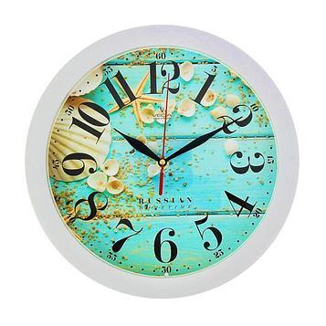"""Часы настенные, серия: Море, """"Ракушки"""", белый обод, 28х28 см"""