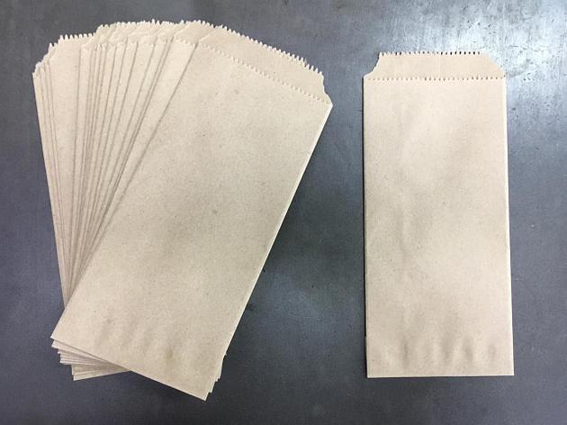 Пакеты (конверт) под столовые приборы из бур. бумаги 90х210мм, б/л., 4000 шт, фото 2