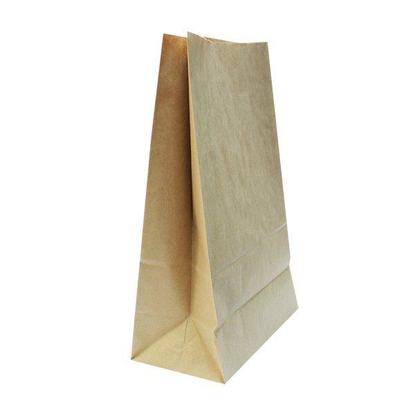 Пакеты на вынос (260+140)х350мм коричн.,78г/м2, крафт бум. б/ручек, 500 шт