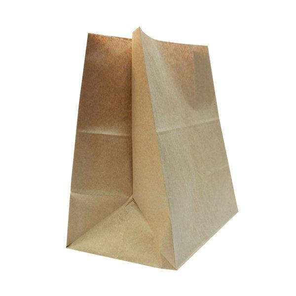 Пакеты на вынос (350+150)х450мм коричн.,78г/м2, крафт бум. б/ручек , 500 шт