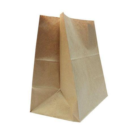 Пакеты на вынос (350+150)х450мм коричн.,78г/м2, крафт бум. б/ручек , 500 шт, фото 2