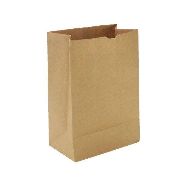Пакеты на вынос (220+120)х290мм 3кг коричн. крафт 70 г/м2 , 600 шт
