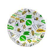 """Тарелка d 225мм, 280г/м2, с рисунком """"Food корт"""", 500 шт"""