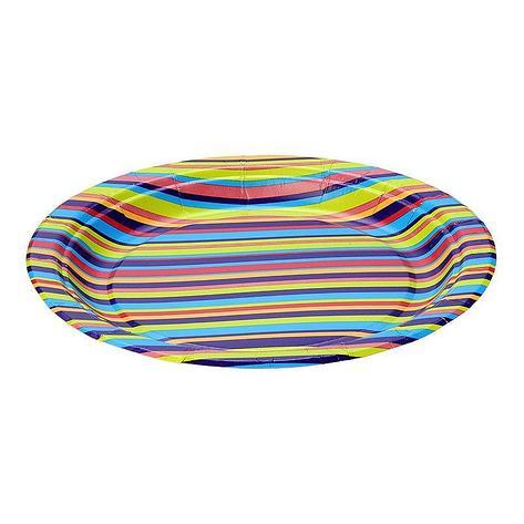 "Тарелка d 230мм, дизайн, ""Technicolor"", бумага, 1000 шт, фото 2"