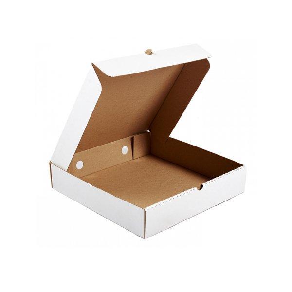 Коробка д/пиццы, 300х300х60мм, бел., картон В, 50 шт