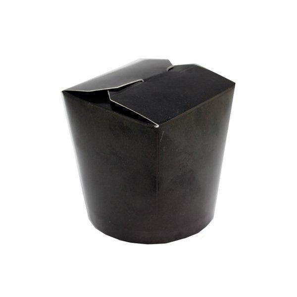 Коробка д/лапши, 500мл, ЧЕРНЫЙ, картон, 3 шт