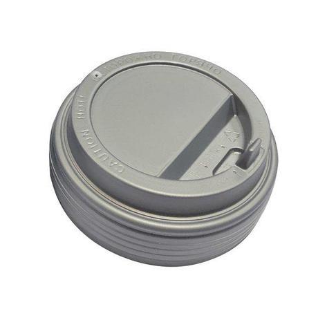 Крышка д/стаканов, д/хол./гор., d 90мм, серебр., с клапаном, ПС, 1000 шт, фото 2