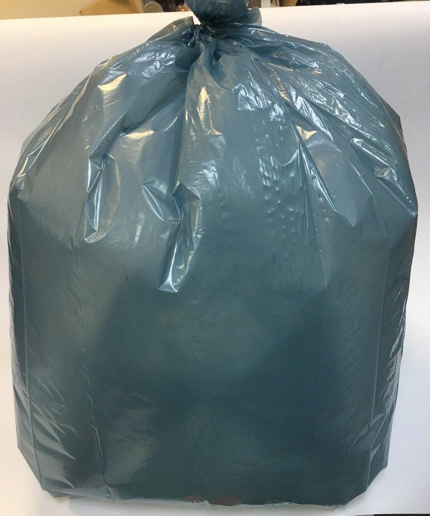 Мешок д/мусора 120л (50+20)x110см 40мкм бирюз. ПВД 25шт/уп, 25 шт