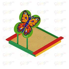Песочница с навесом - бабочка ИО 5.01.09-01