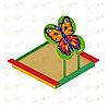 Песочница с навесом - бабочка ИО 5.01.09-01, фото 4