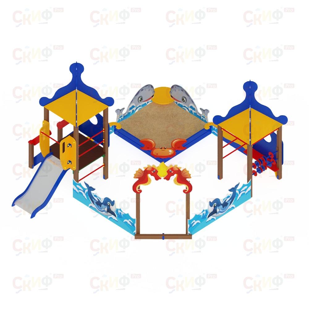 Песочный дворик Морской с горкой ИО 6.17.01