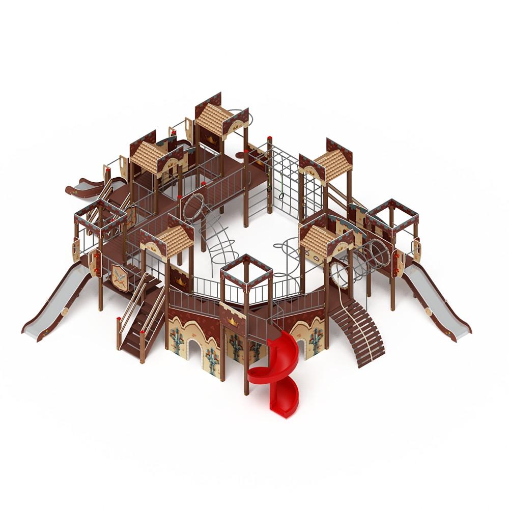 Детский игровой комплекс «Замок» ДИК 2.18.12 (винтовой скат) H=2000 H=1200 H=900