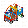 Детский игровой комплекс «Машинка с горкой 1» ДИК 1.03.1.01 Н 750, фото 2