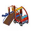 Детский игровой комплекс «Машинка с горкой 4» ДИК 1.03.1.04 Н 750, фото 4