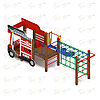 Детский игровой комплекс «Пожарная машина» ДИК 1.03.2.04-01 Н=750, фото 2