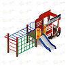 Детский игровой комплекс «Пожарная машина» ДИК 1.03.2.04-01 Н=750, фото 3