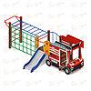 Детский игровой комплекс «Пожарная машина» ДИК 1.03.2.04-01 Н=750, фото 4