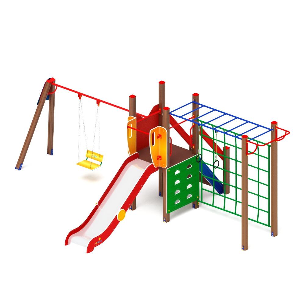 Детский игровой комплекс «Счастливое детство» ДИК 2.01.02 H=1200 (ДИК 05)