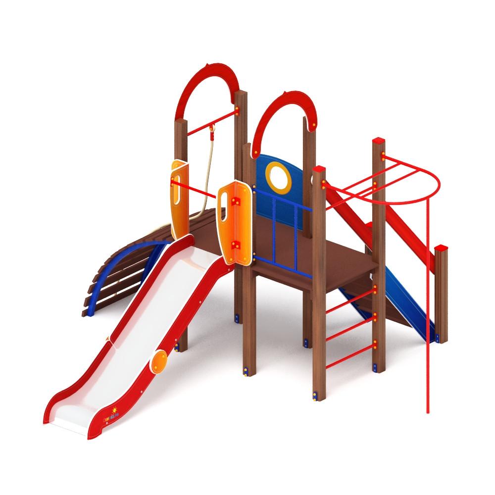 Детский игровой комплекс «Играйте с нами» ДИК 2.01.1.02 H=1200