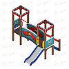Детский игровой комплекс «Королевство» ДИК 1.15.02 H=750, фото 2