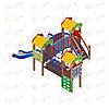 Детский игровой комплекс «Полянка» ДИК 1.16.04 H=750, фото 2
