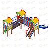 Детский игровой комплекс «Полянка» ДИК 1.16.04 H=750, фото 3
