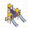 Детский игровой комплекс «Полянка» ДИК 1.16.04 H=750, фото 4