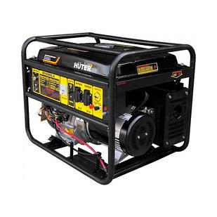 Бензиновый генератор HUTER DY6500LX, 5 кВт, электростартер, мощность 5 кВт