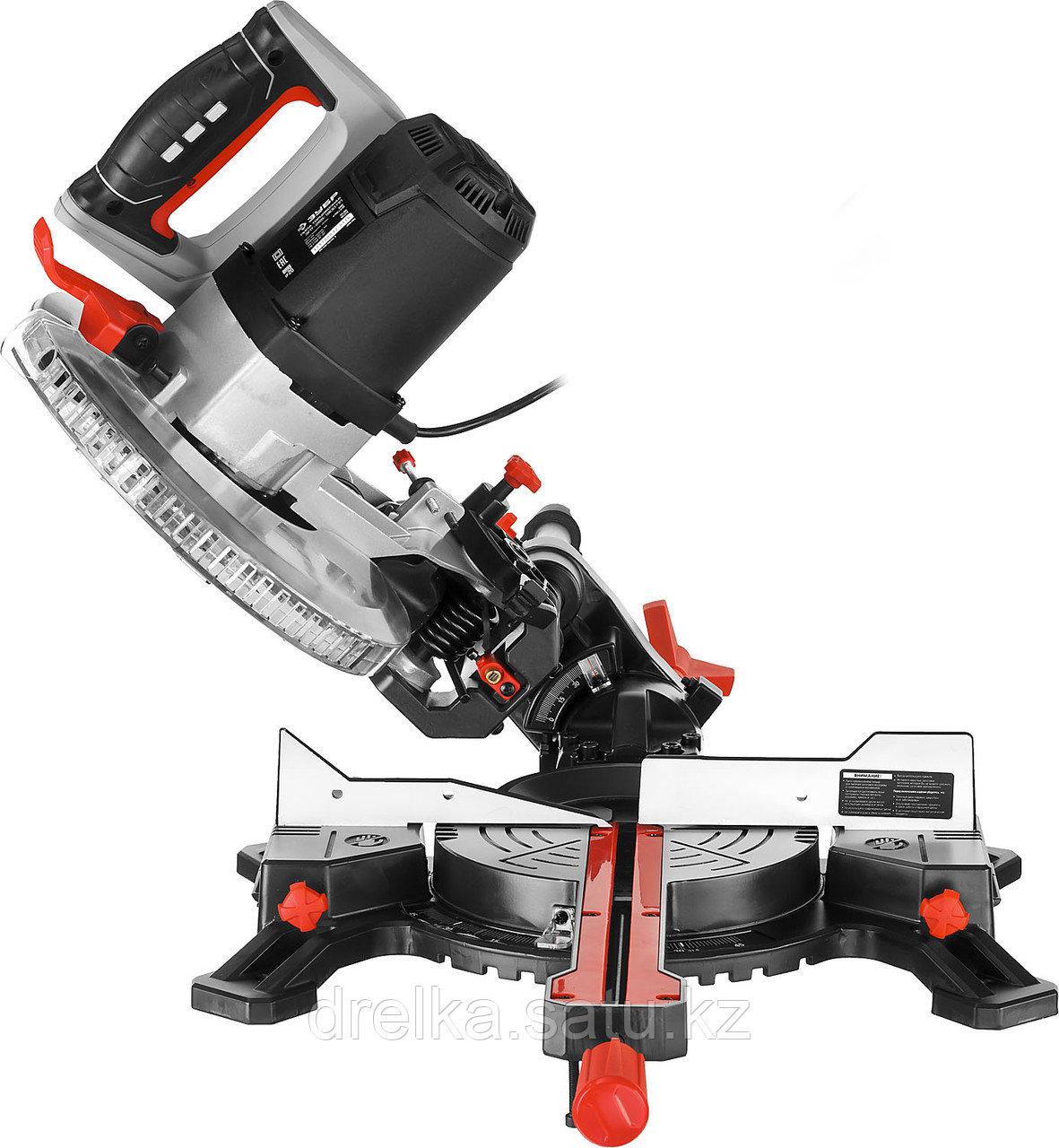 Пила торцовочная ЗУБР ЗПТ-255-1800 ПЛ, МАСТЕР, 255 мм, 1800 Вт, 5000 об/мин, с протяжкой, лазер - фото 5