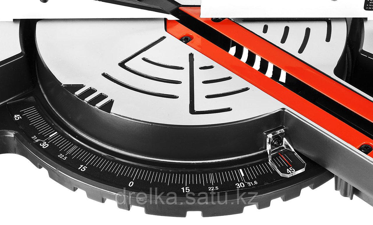 Пила торцовочная ЗУБР ЗПТ-255-1800 ПЛ, МАСТЕР, 255 мм, 1800 Вт, 5000 об/мин, с протяжкой, лазер - фото 8