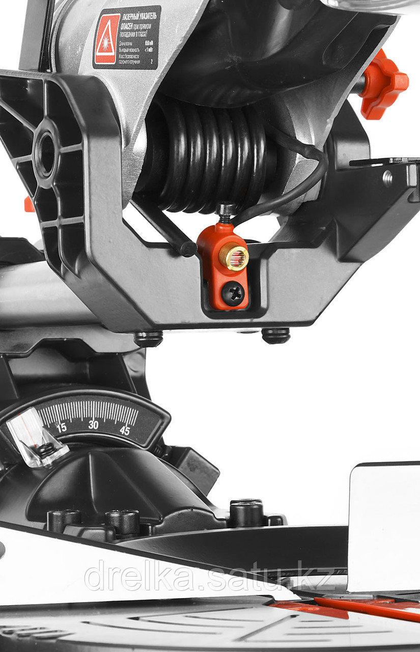 Пила торцовочная ЗУБР ЗПТ-255-1800 ПЛ, МАСТЕР, 255 мм, 1800 Вт, 5000 об/мин, с протяжкой, лазер - фото 7