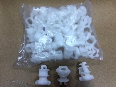 Изолятор универсальный на стекловолоконные столбики и арматуру , 25 штук/упаковка, фото 2