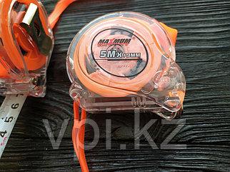 Рулетка, противоударный пластиковый корпус, подвес, стопор,  5м*19мм., MAXIMUM