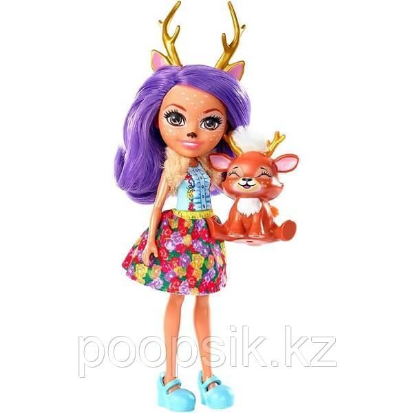 Enchantimals Кукла с питомцем Данесса Олени DVH87/FXM75 - фото 1
