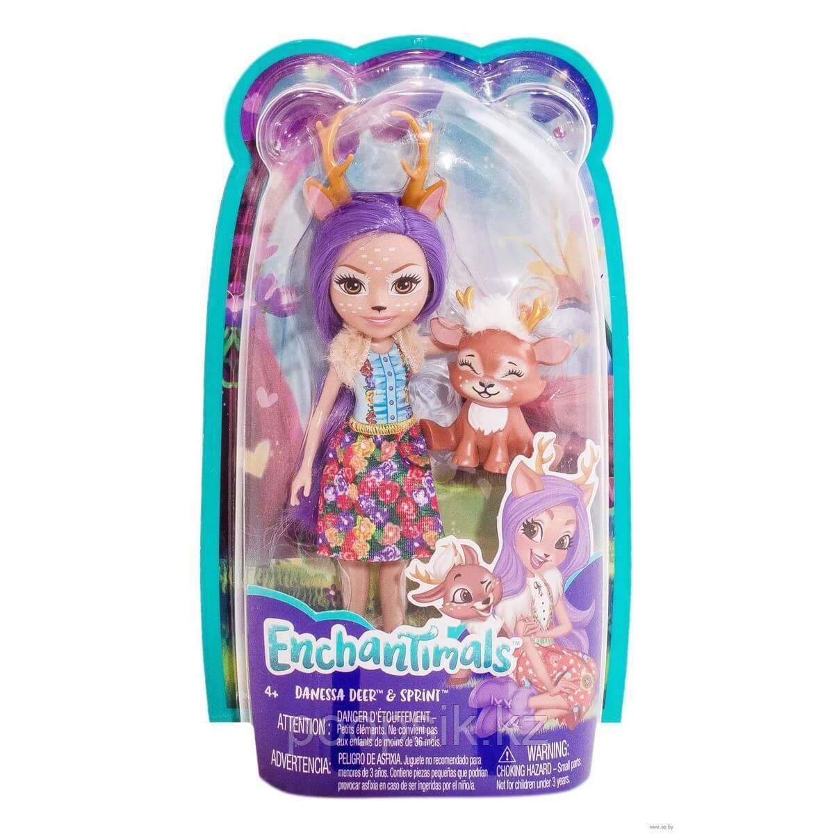 Enchantimals Кукла с питомцем Данесса Олени DVH87/FXM75 - фото 3