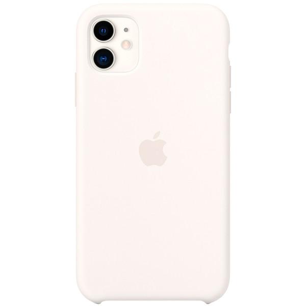 Силиконовый чехол для Apple iPhone 11 (Белый)