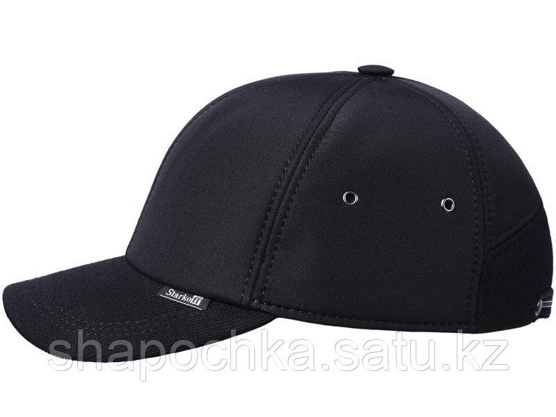 Бейсболка  Starkoff плащ.черн/трик