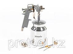 Краскораспылитель пневмат. с нижним бачком V=1,0 л + сопла  диаметром 1.2, 1.5 и 1.8 мм// MATRIX