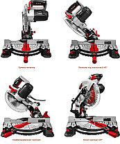 Пила торцовочная ЗУБР ЗПТ-255-1800 ЛМ2, МАСТЕР, 255 мм, 1600 Вт, 5000 об/мин, лазер, удлинители стола, фото 3