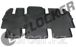3D Коврик в салон Hyundai Starex (08-12) 3-й ряд сидений (полимерный)