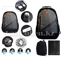 Городской рюкзак Swissgear с дождевиком USB и AUX выход на плечевом ремне (серый) 109